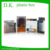 Custom transparent plastic packaging box for cell phone accessories & packaging plastic box for phone case