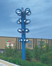 OEM factory 6~12M plaza led light lamp ring shape light pole waterproof IP65 led landscape lamps