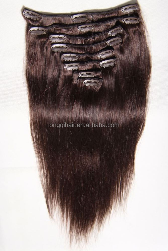 hot new products for 2015 kinky straight clip in hair extensions brazilian weave, afro hair clip in extensions