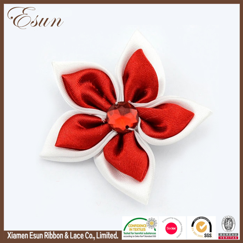 Wholesale Hair Accessories Hot Sale Cheerleading Bows Hair Clip Artifical Flowers