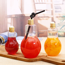 Disposable plastic beverage cup, creative yogurt juice bottle, milk tea shop beverage bottle