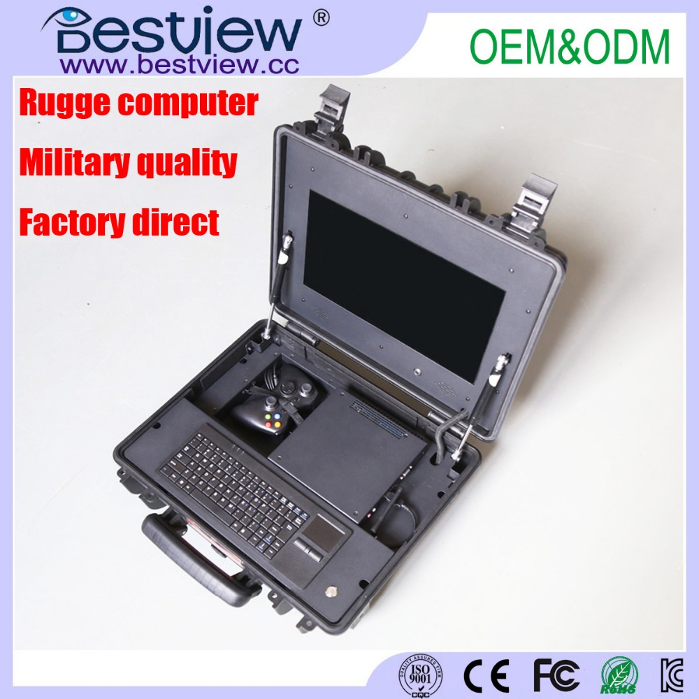 "Factory Direct 15.6"" Portable Military Moible Rugged AIO Computer"