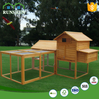 Outdoor Furniture Wooden Pet House Chicken Coop in Wood Animal Cages