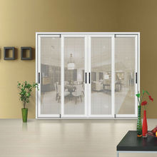 Aluminum sliding door,built in blinds door