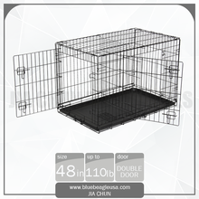 "48"" Wholesale 2 Doors Metal Dog Kennel house"