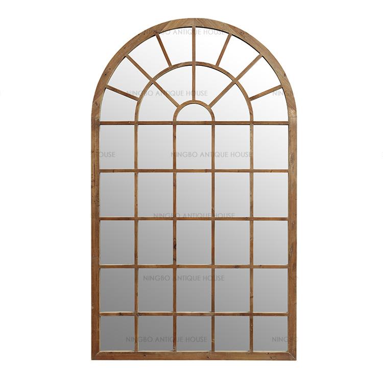 acento recuperada arco ventana en forma de madera de pino blanco ...
