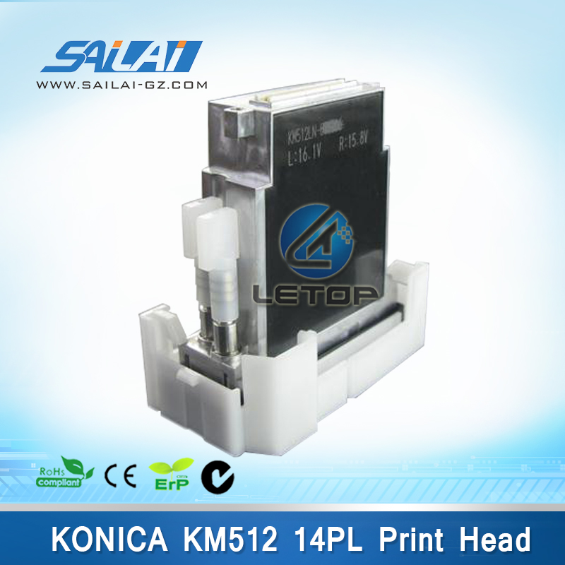 100% Original&Brand New solvent printer konica 512 14pl printhead for digital machine jhf vista/leopard/allwin solvent (KM512MN)