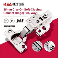 [A15] Two Way Clip-on Cabinet Hinge Soft Closing Furniture Hinge