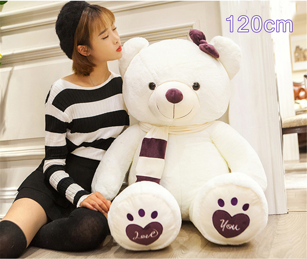 Fancytrader Huge Giant Love Teddy Bears Plush Toys Gifts for Girls Soft Big Stuffed Bears Doll Christmas New Year Valentine's Day Gifts 14
