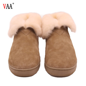 CF-100 Winter Manufacturer Real Wool Classical Genuine Leather Winter Warm China Wholesale Women Moccasin