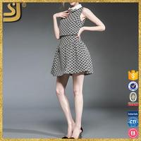 New Arrival fashion black dress, sleeveless adult hot sexy photos mini dress, latest skater dress