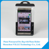 Hot sell mobile phone pvc waterproof bag for iphone