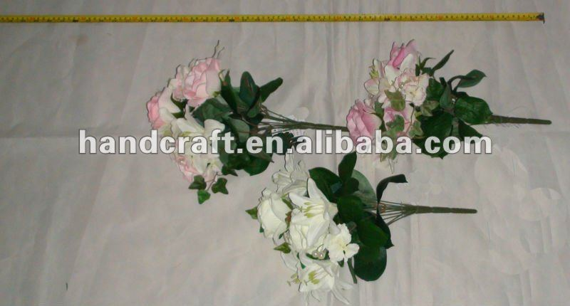 artificial silk bunch of lily&rose flower