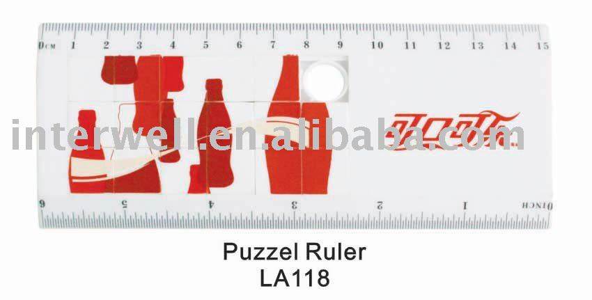 Brainstore cartoon design puzzle ruler