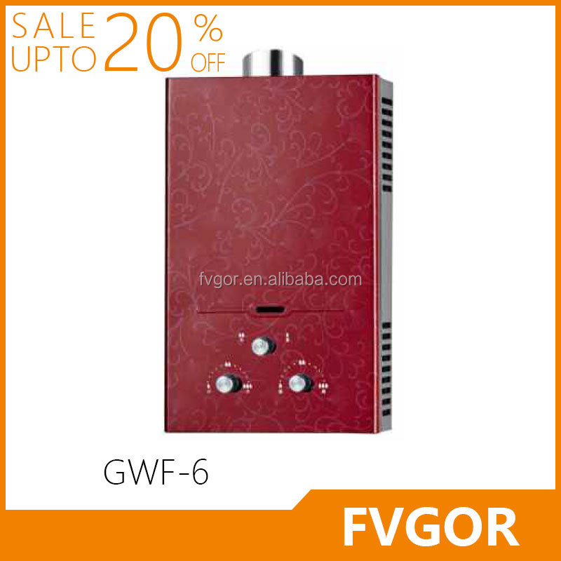 GWF-6 FVGOR Factory wholesale gas hot water heater 2016 new style Instant junkers Gas Geyser