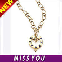 United States famous jewelry brand customize blue gem necklace