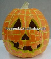 Halloween decoration gift jack-o-lantern look beautiful and unique design of PU hard foam from