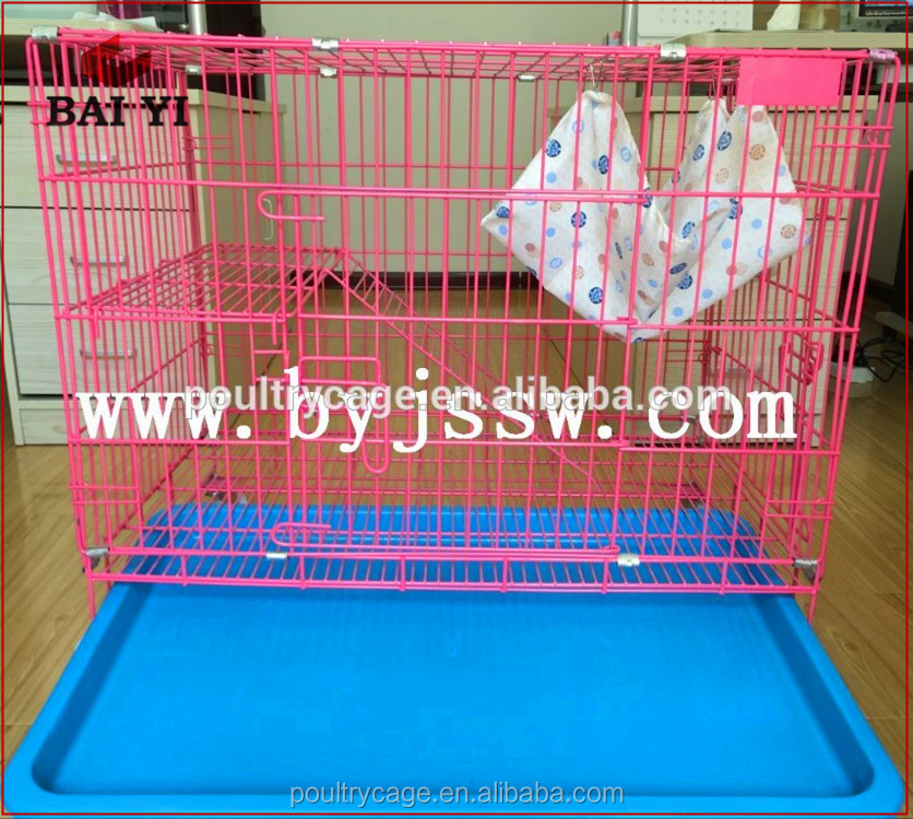 China Supplier Handmade Galvanized PVC Coated Pet Cat Cage For Sale