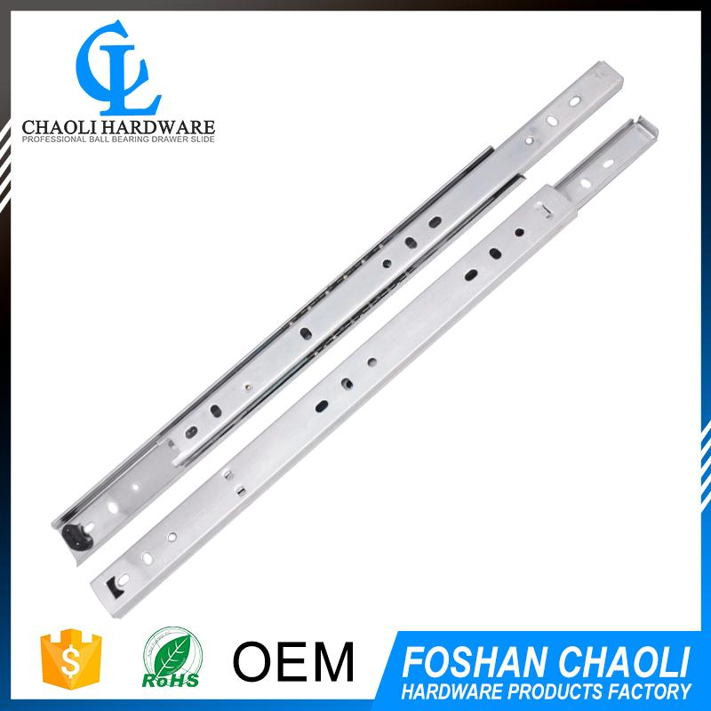 China factory single extension side mounted ball bearing drawer slide with high quality