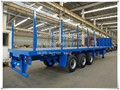 Truck Traile Use Flatbed Trailer with Grill