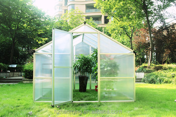 outdoor garden aluminum frame greenhouse