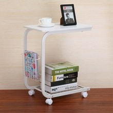 Coffee Sofa Side End Snack Tray Table Cart Rolling Over Bed Laptop Table