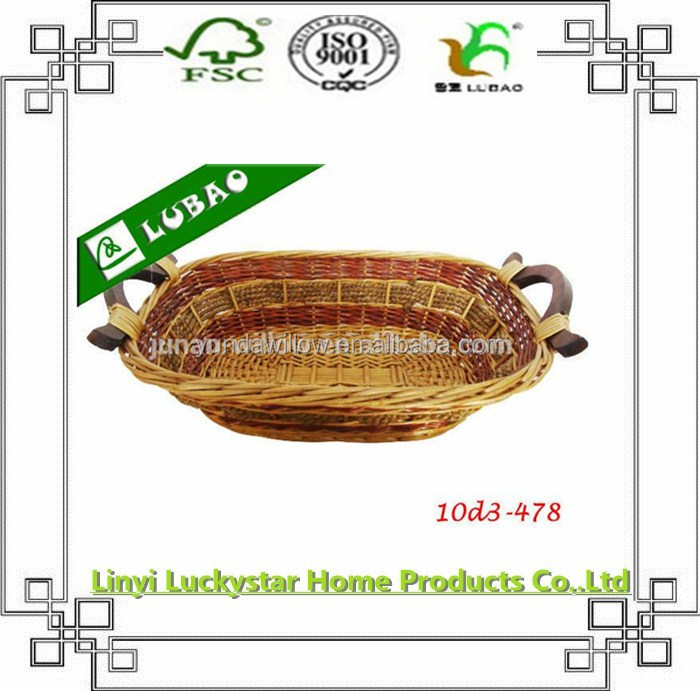 wholesale wicker plate with hand