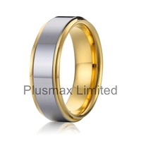 Alibaba retail buying very cheap price 18k gold and silver bicolor surgical steel wedding ring latest gold finger ring designs