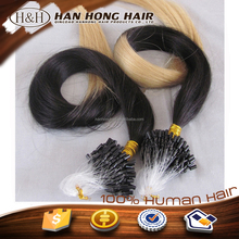 Top Quality Cheap Virgin Remy Brazilian Micro Braid Hair Extensions 100 Human Hair Double Beads Micro Ring Loop Hair Extension