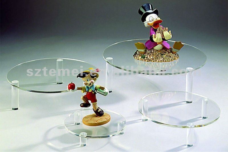 cute clear acrylic cake stand for single cake