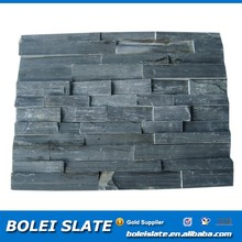 Decorative black ledge stacked culture slate