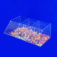 Acrylic Tripple Sweet Pick and Mix Dispenser, Acrylic Sweet Candy Dispenser