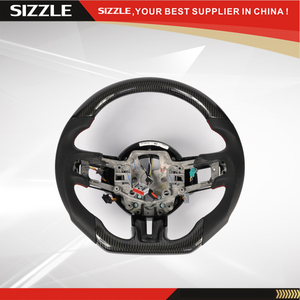 Car Carbon Fiber Steering Wheel For Ford Mustang 2015
