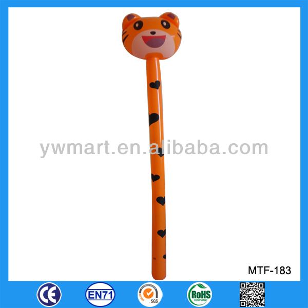 Top selling inflatbale tiger stick kids toy