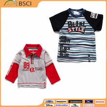Hot boys stylish design kids clothes baby wear new design polo t shirts boys