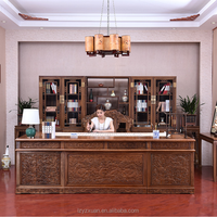 Luxury Imports Home Furniture Design Solid Wood Computer Table Models