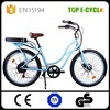 TOP 48V 500W adult pedal car tricycle for elderly Beach Cruiser e bike electric bicycle