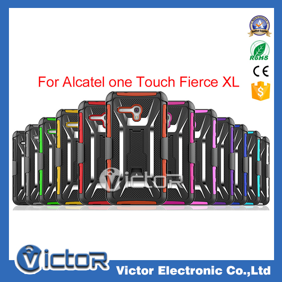 USA hot !T hoslter clip 3 in One kickstand Mobile Phone Case for Alcatel one touch fierce XL
