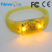 Free Samples Sound Activated LED Wristband Party Concert Design Night Safety LED Sound Sensor Bracelet For Sale