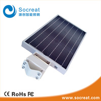 IP 65 outdoor wall 8W integrated solar street/garden light with motion sensor
