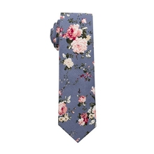 D1093 Men Casual Cotton 6cm Slim Skinny Necktie For Wedding Party Floral Print <strong>Ties</strong>