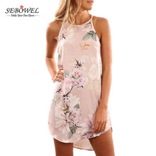 New Arrvial Women Tank Dress Floral Printed Sleeveless Dress Summer