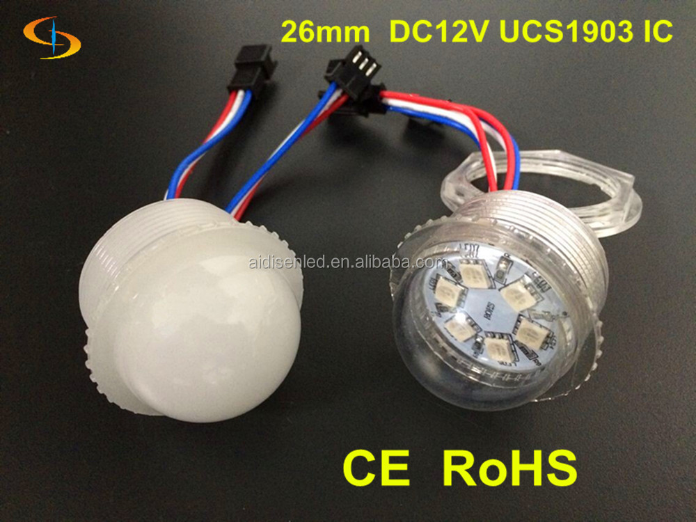 China Alibaba 35mm 6leds smd rgb led Module Pixel disco ball light 12v