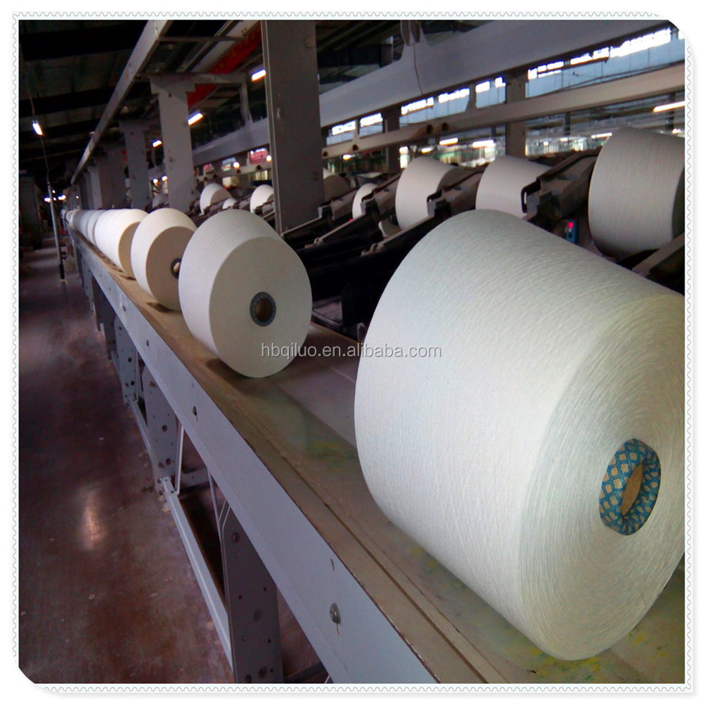 Indonesia Customer GLobal Sourcing Yarn But Import High Quality 30/1 Carded Cotton Polyester Spun Yarn For Knitting or Weaving