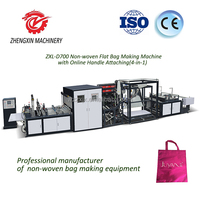 Good sales non-woven flat bag and handle bag making machine with high quality
