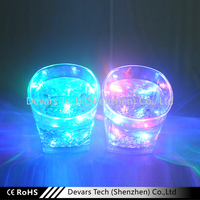 New Product Brand Promotional Plastic Flashing Liquid Activated LED Glass, Multicolor Light Up Cup, Drinking Led Cup