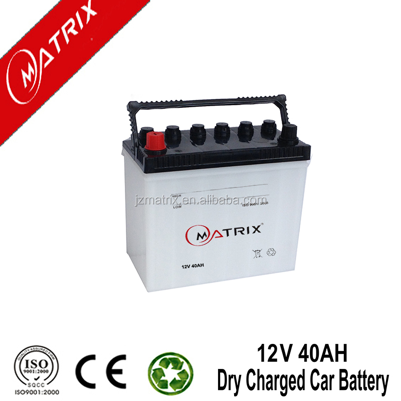 rechargeable 40AH 12volt dry cell car battery wholesale