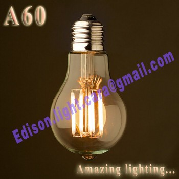 Dimmable and non dimmable A60 LED filament bulbs