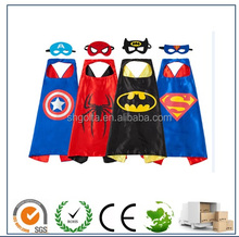 Comics Cartoon Dress Up Costumes Satin Capes with Felt Masks