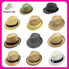 Multi Design Promotional High Quality Pork Pie Hats Men cheap trilby hats fedora hat custom logo band Wholesale